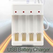 AA/AAA Universal Four Slots White Button Lithium Battery USB Charger Adapter
