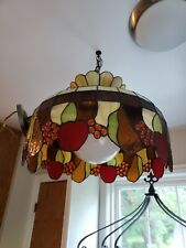 Tiffany Style Stained Glass Hanging Lamp/Chandelier with Fruit