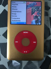 iPod classic 6th Generation 128GB  Gold with red click wheel