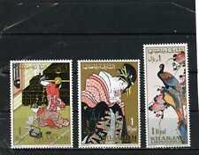 Sharjah 1967 japonais Tableaux lot de 3 Timbres MNH