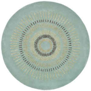 Soho Light Blue/Multi 8 ft. x 8 ft. Round Area Rug