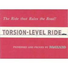 1956 Packard Torsion Level Ride Brochure mx823-XL8813