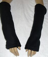 New Arm Warmers In Black Fleece Gothic Lolita or Male