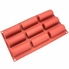 9 Cavity Twinkie Silicone Decorating Moulds Candy Cookies Chocolate Baking Mold