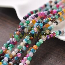 100pcs 4mm Round Natural Stone Loose Gemstone Beads Mixture S Agate