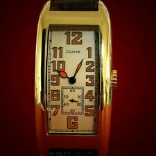 Watermans Curvex 1920s Period Style art decor oblong tanker watch