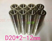 Lots 56 X 112 Hole 12 Round Ring Magnets Rare Earth Neodymium N50