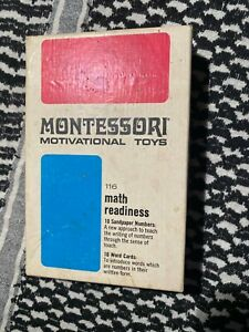 Vintage Montessori Motivational Toy Homeschool - VERY RARE - Math/Education
