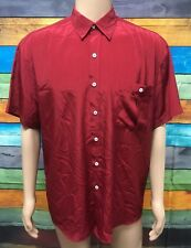 (Used) Mens The Classic Colourways Short Sleeve Button Front Shirt Size: L Red