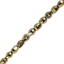 """Calavera De Hematita Cuentas Semipreciosas (10x8mm) gemas de oro metálico filamento de 8"""" (H90/7)"""
