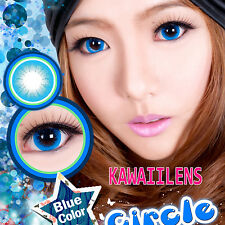 Kontaktlinsen Contact Lenses Kawaii Color Soft Big Eyes Makeup Lens Circle Blue