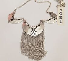 Authentic Lucky Brand Silver Tone Bib Style Necklace,NWT