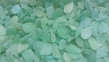 "Sea Glass - 50 Mini pieces of ""Craft Quality"" Aqua Blue / Sea Foam Green"