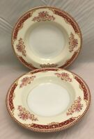 """Pair Vintage Cereal Bowls - Marked RC - 8.25"""" w/ Floral Pattern"""