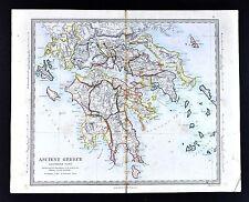1866 SDUK Map - Ancient Greece Peloponnese Athens Sparta Corinth Olympia Delphi