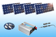 400 W Grid Tie Inverter + 12 V 400 Watt (4x 100W) Mono Solar Panel + Z Mounting