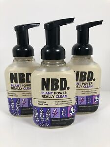 Set of Three NBD Plant Power Foaming Hand Soap Lavender & Rosewood 10.5 oz Each