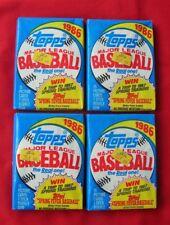 1986 TOPPS BASEBALL FOUR WAX PACKS
