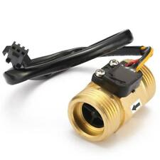 PRO,G3/4'' DN20 Kupfer Hall Effekt Wasser Flow Sensor Schalter Durchflussmesser#