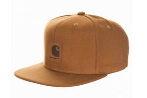 Carhartt Wip Logo Cap Hamilton Brown Snapback Cotton Canvas, 8 oz Baseball Hat