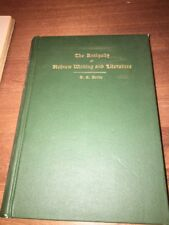 ANTIQUITY OF HEBREW WRITING/LITERATURE/  PROBLEMS IN PENTATEUCHAL CRITICISM-1911