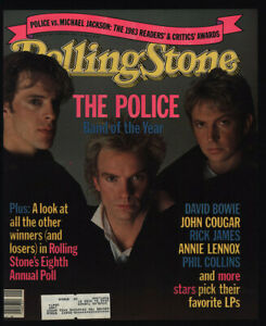 1984 THE POLICE Vintage ROLLING STONE Magazine COVER ONLY - STING