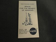 VINTAGE Space for the Benefit of Mankind NASA Exhibit 1962 SEATTLE WORLDS FAIR