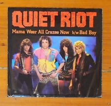 "7"" Picture Sleeve Single - Quiet Riot, Mamma Weer All Crazee Now - Epic ES 982"
