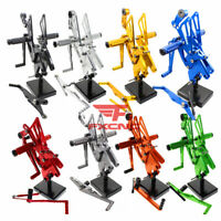 For Yamaha YZF R1 1998-2005 2006-2018 Motorcycle Rearset Footrest Footpegs Pegs