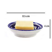 Soap Dish Holder Ceramic Handmade Bathroom Decor Accessories Blue Pottery