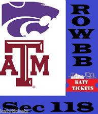 1 - 5 eTIX Advocare Texas Bowl Kansas St vs Texas A&M Reliant Stadium  12/28/16