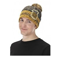Harry Potter Hufflepuff Crest Halloween Newt Costume Pom Beanie Hat Adult Child