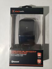 BlackWeb Wireless Bluetooth Touch Mouse 75 ft Range - Batteries Included - NEW