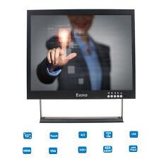 """Touch Screen 12"""" TFT LCD 1024*768 Video POS PC AV Monitor HDMI VGA BNC USB MP5"""