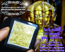 Endless Rich Billionaire Yant LP AJ O Thai Amulet Bring Luck Call Money Wealth