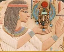 2 in 1 - Brooch & Pendant - Egyptian Necklace - Colorful Wings Scarab