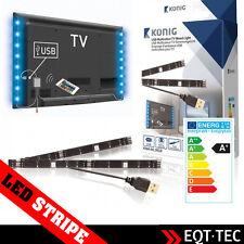 2 x USB LED STRIPE STREIFEN FERNBEDIENUNG TV LICHT Fernseher Schlauch leucht