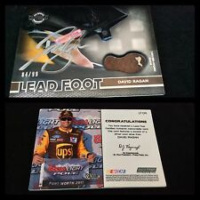 2011 David Ragan Autographed / Signed Wheels Main Event Lead Foot Silver 84/99