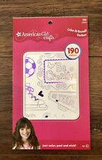 New American Girl Crafts Color it Yourself Stickers 190 pieces Metalic Doll