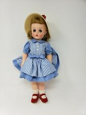 Kelly Doll in blue Dress Red Shoes, 1958 Alexander 15 Inch hard plastic