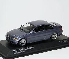 BMW 328 ci Coupe e46 1999 GRIGIO GREY Gris Grigio Met. Minichamps 431028326 1:43