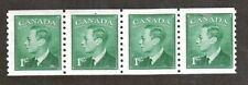 Canada Scott 295 - King George VI. MNH. OG.Strip Of 4. Stains On Gum.#02 Can295a