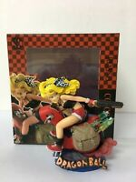 New in Box Dragon Ball Z Motorcycle Blond hair LUNCH PVC Figure Collectible Toy