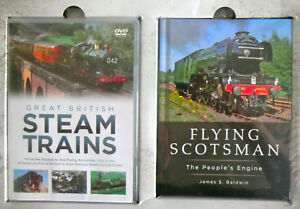 DVD & BOOK GIFT SET - THE GREATEST STEAM LOCOMOTIVES  WITH FLYING SCOTSMAN BOOK