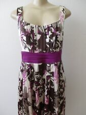 SUZY CHIN FOR MAGGY BOUTIQUE FLORAL PRINT SLEEVELESS DRESS SIZE 10