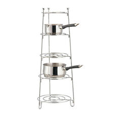 Saucepan Stand 5-Tier Chrome Apollo Pot Pan Rack Storage Organise 28 x 28 x 80cm
