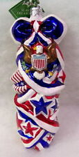 New Slavic Treasures Glass Ornament - July 4Th Stack (Patriotic) 2003