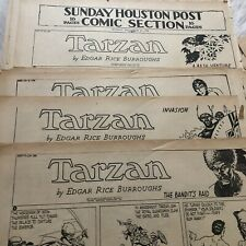 VINTAGE 1938 LOT OF 20 PLATINUM AGE TARZAN NEWSPAPER COMICS BY HOGARTH