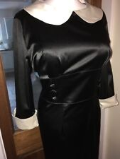Shiny Satin Mistress Governess Hobble Dress Size 3XL 18,20 Bust 46ins (LL22)