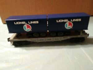 Lionel 6-16323 Lionel Lines Flatcar W/ Trailers NIB